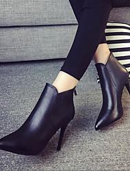 Damen-High Heels-Lässig-PUClub-Schuhe-Schwarz