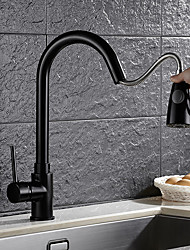 High Quality Brass Oil-rubbed Bronze Single Handle One Hole Rotatable Kitchen Sink Faucet