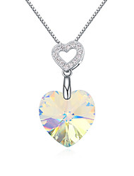 Women's Pendant Necklaces Jewelry Jewelry Gem Alloy Unique Design Fashion Light Blue Red White Gold Jewelry For Party Gift Daily Casual