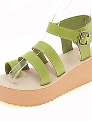 Damen-Sandalen-Kleid Lässig-Kunstleder-Creepers-Komfort-