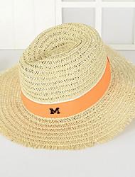 M Letter Men in Western Cowboy Hat Summer Folding Beach Outdoor Tourism Wide Brim Hawaii Folding Soft Sun Hat