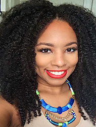 Natural Color Medium Length Syntheic Africa Curly Wig High Quality Black Women Wig