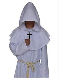Costumes de Cosplay Sorcier/Sorcière Vampire Assassin Fête / Célébration Déguisement d'Halloween Noir Blanc Bleu Rouge Marron Solide