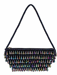 L.WEST Woman Fashion Beaded Evening Bag