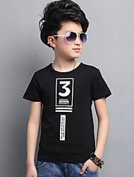 T-Shirt Lässig/Alltäglich Druck Baumwolle Sommer