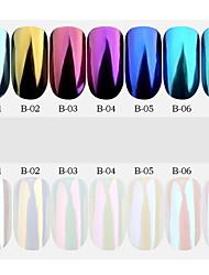 1 pc 6 colore che vendono il laser magico magico magico magico specchio polvere di fuoco fuoco polvere di polvere laser camaleonte diy