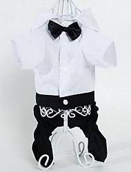 Perro Pantalones Ropa para Perro Bonito Moda Rayas Negro