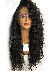 Women Human Hair Lace Wig Brazilian Human Hair Lace Front Glueless Lace Front 130% Density With Baby Hair Curly Wig Black Short Medium