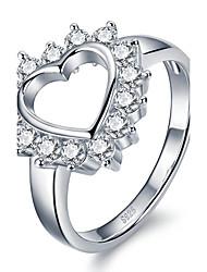 Жен. Массивные кольца Кольцо Кристалл Мода По заказу покупателя Euramerican Pоскошные ювелирные изделия бижутерия Стерлинговое серебро