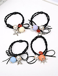 Korean Version of the First Rope Rope Hair Rope Bow Knot Hair Flower Buckets Mixed Hair 10pcs