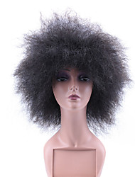 Hot Short Curly Synthetic Wigs For Black Color Women African American Natural Cheap Hair Wig