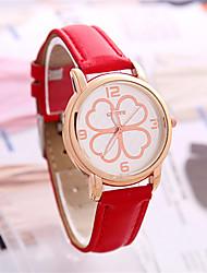 Mulheres Relógio de Moda Chinês Quartzo PU Banda Azul Vermelho Roxa