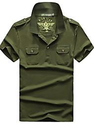 Homme Tee-shirt Pêche Respirable Eté Noir Vert de forêt