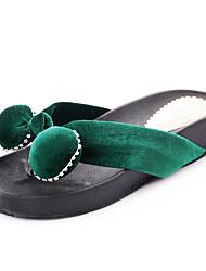 Women's Slippers & Flip-Flops Summer Comfort PU Outdoor Flat Heel