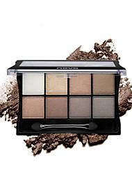 8 Paleta de Sombras Secos Mate Brilho Paleta da sombra Pó Maquiagem para o Dia A Dia Maquiagem Esfumada