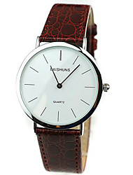 Men's Fashion Watch Wristwatch Casual Watch Quartz Genuine Leather Band Cool Unqiue Simple Business Watches