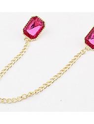 Mulheres Gargantilhas Colarinho Medalhões Colares Imitação de Diamante Jóias Acrílico LigaBásico Gemas Flores Natureza Amizade Estilo