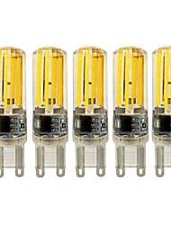 5W E14 G9 G4 Luci LED Bi-pin T 4 COB 450 lm Bianco caldo Bianco Intensità regolabile AC 220-240 V 5 pezzi