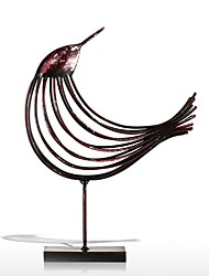 Iron Wire Bird Figurine Metal Figurine Bird Handicrafts Post Modern Art Craft Gift For Home Office