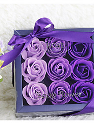 9 Piece/Set Favor Holder-Square Mixed Materials Practical Favors Bath & Soaps Gift Boxes