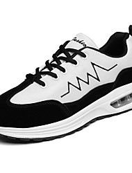 Men's Athletic Shoes PU Spring Summer Low Heel Black Gray Blushing Pink Under 1in