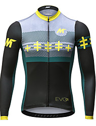 Mysenlan Cycling Jersey Men's Long Sleeve Bike Jersey Quick Dry Breathable Polyester Classic Fashion Spring Summer Fall/Autumn