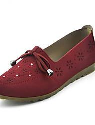 Для женщин Мокасины и Свитер Удобная обувь Ткань Демисезонный Весна Повседневные Для прогулок Удобная обувь На плоской подошвеКоричневый