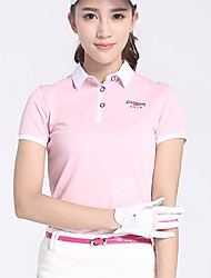 Femme Manches Courtes Golf Hauts/Tops Golf