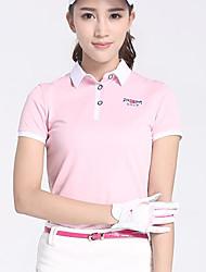 Femme Manches Courtes Golf Hauts/Tops Golf