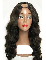 Cheap Brazilian U Part Human Hair Lace Wigs with Baby Hair 100% Virgin Human Hair with Natural Hairline Hot 130% Density Body Wave U Part Wigs