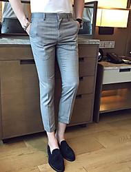Homme simple Taille Normale Micro-élastique Costume / Tailleur Pantalon,Ample Couleur Pleine