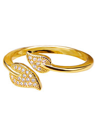 Fashion Gold plated Silver Plated Adjustable Leaf Leaves Rings Jewelry For Wedding Engagement Party Birthday Gift