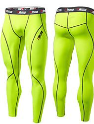 Homens Corrida Meia-calça Secagem Rápida Design Anatômico Macio Sensação de Sustentação Compressão Tiras RefletorasPrimavera Outono