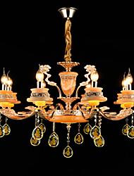 Подвесные лампы Сплав цинка Особенность for Хрусталь Мини Металл 8 лампочек