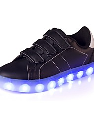 Boys' Sneakers Comfort Light Up Shoes Leatherette Summer Fall Casual Outdoor Flat Heel Gold White Black Ruby Flat