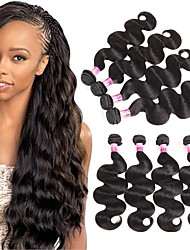 4pcs Remy Brazilian Virgin Hair Body Wave 4 Bundles Hair Products Brazilian Body Wave Unprocessed Human Hair Weave 100g/Bundle 400g/Set