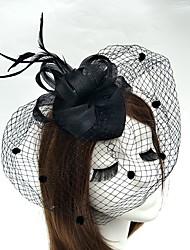 Capacete Fascinador Chapéus Véus de Rede 1