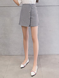Women's Holiday Mini Skirts A Line Striped Summer