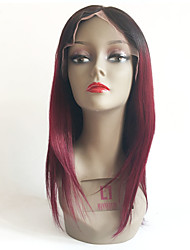 7A Ombre Glueless Full Lace Human Hair Wigs T1b/Burgundy Lace Wig Brazilian Virgin Human Hair Ombre Wigs For Black Women