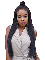 2017 New Product 10-24Inch 360 Lace Wig 180% Density Human Virgin Hair Natural Black Color Silk Straight 360 Lace Wig With Baby Hair