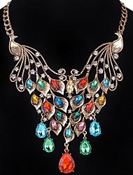 Mujer Chica Collares de cadena Cristal La imitación de diamante Joyas Pájaro Brillante LegierungDiseño Básico Diseño Único Colgante