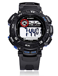 Men's Fashion Watch Digital Watch Digital Silicone Band Black Blue