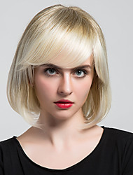 Beautiful Short Capless Wigs Straight  Hair With bangs Wigs For Human