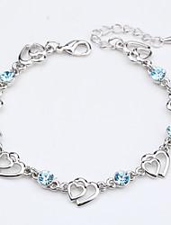 Femme Chaînes & Bracelets Bijoux Naturel Fait à la main Mode Vintage Cristal Alliage Forme Ronde Formé Carrée Forme de Coeur Bijoux Pour