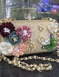 Women's Evening Bag leatherette All Seasons Wedding Party Event/Party Evening Party Formal Party/Cocktail MinaudiereRhinestone Satin