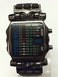 Men's Teen Sport Watch Ecology-Drive LED Rubber Band Casual Black