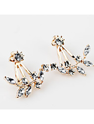 Women's Girls' Stud Earrings Imitation Diamond Unique Design Tag Geometric Floral Fashion Personalized Hypoallergenic Classic Feather