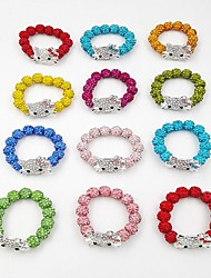 Kid's Child Beads Adjust Bracelet Rhinestone Friendship Handmade Fashion Rhinestone Round Cat Jewelry For Wedding Party Special Occasion Anniversary