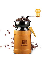 Hand Grind Machine With Coffee Beans And Ground Coffee Machine