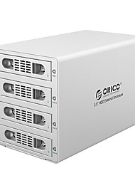 ORICO-3549RUS3 3.5 inch High Speed Usb3.0 Four Disc Hard Disk Cabinet Raid Silver